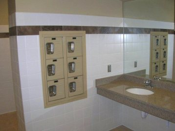 AMP Recessed Wall Lockers - Charlotte Fire Department