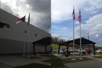 Flag Pole Installation - Empire Mills River,NC