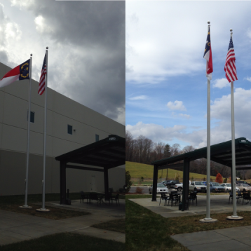 Flag Pole Installation - Empire Mills River,NC