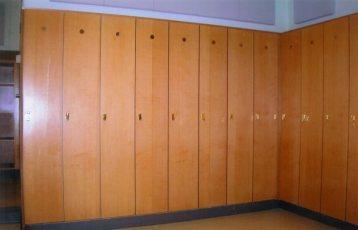 Church Choir Room Greensboro, NC Wood Lockers