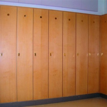 Church Choir Room Greensboro, NC Wood Lockers