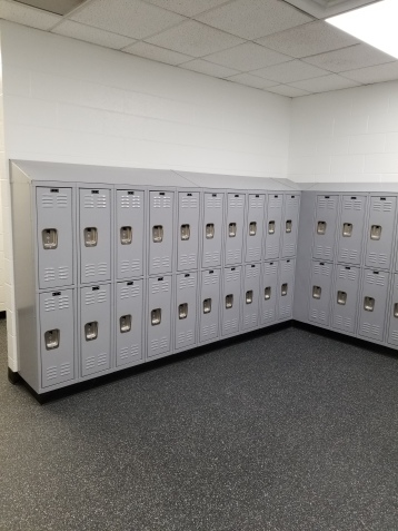 "YMCA project -- Double Tier Lockers 12""w. x 18""d. with 12""w.x 12""d."
