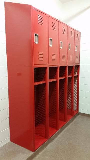 """Durham Fire Station"" ( Custom Locker ) 18""w. x 24""d. -- 97"" Overall Height… consist of: Lower Locker 60"" high - No Door / Upper Locker 37"" high - with door"